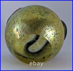 Vintage STEVEN CORREIA ART GLASS IRIDESCENT SNAKE PAPERWEIGHT 1997