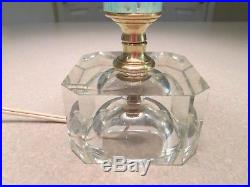 Vintage Saint Clair 19.5 art glass paperweight lamp with shade