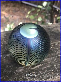 Vintage Signed Correia Iridescent Paperweight