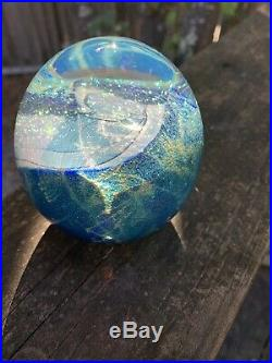 Vintage Signed Eicholt Rare Dichoric Glass Paperweight