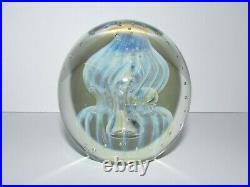 Vintage Signed Robert Eickholt Art Glass Jellyfish Paperweight 895