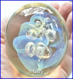Vintage Signed Robert Eickholt Opalescent Art Glass Paperweight 1994 -3 WSV3