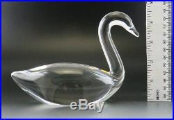 Vintage Steuben Crystal Glass Swan Goose Bird Figurine Paperweight Signed 7