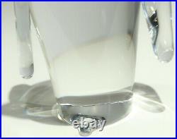 Vintage Steuben Crystal Penguin Art Glass Sculpture Figurine Signed Paperweight