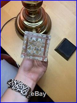 Vintage Steuben -crystal- Glass Obelisk Paperweight