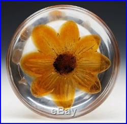Vintage Stylish French Daum Floral Glass Paperweight 20th C