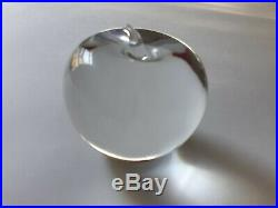 Vintage Tiffany & Co Crystal Glass Apple Paperweight Signed
