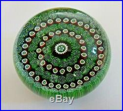 Vintage Truly Rare Perthshire Paperweight, Moss, 1970, with Label and Box