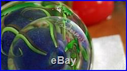 Vintage Vandermark Studio Superb Art Glass Paperweight Signed