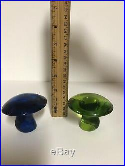Vintage Viking Glass Mushrooms (Set of 3)