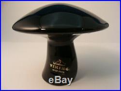 Vintage Viking Large Black Mushroom