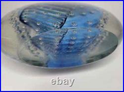 Vtg 1989 Robert Eickholt Dichroic Art Glass Control Bubble Paperweight Sculpture