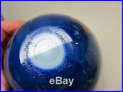 Vtg 1990 James Lundberg Studios Globe Earth Signed Number Glass Paperweight 3.5