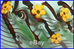 Vtg. Chris Buzzini Bridgeton Studios Angelfish & Millefiori Flowers Paperweght