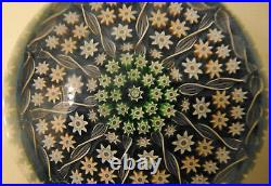Vtg Early Perthshire Crieff Millefiori Twist Art Glass Paperweight P Center EUC