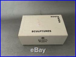 Vtg Kosta Boda Bertil Vallien Journey Boat Glass Mini Sculpture Paperweight Box