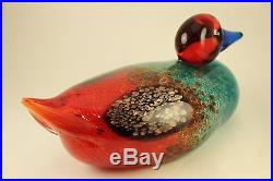 Vtg Murano Art Glass Franco Moretti Duck Sculpture 700 Lmtd Ed Signed Numbered