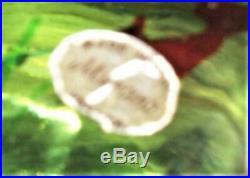 Vtg Murano Fish Tank Aquarium Paperweight Lg 5 Fish Orig Label Gold Dust Seaweed