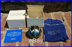 Vtg Orient & Flume Art Glass Paperweight Signed & Dated with Box & Paperwork!'76