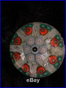 Vtg Perthshire Paperweight Doorknob Flower Millefiore Perfect Upstate Ny Estate