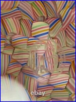 Vtg Signed Baccarat Macédoine Candy Millefiori Glass Cane Art Glass Paperweight