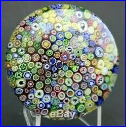 WONDERFUL Vintage BACCARAT Colorful MILLEFIORI CANE Art Glass PAPERWEIGHT 3.2