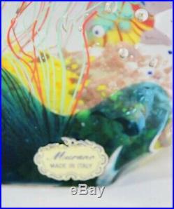 Wonderful Murano 6 Fish Vintage Aquarium. M Fish Glass Art Sculpture L@@k