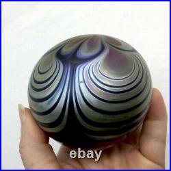 Zweifel Signed Ornate Vintage Paperweight Swirl Art Glass 1976